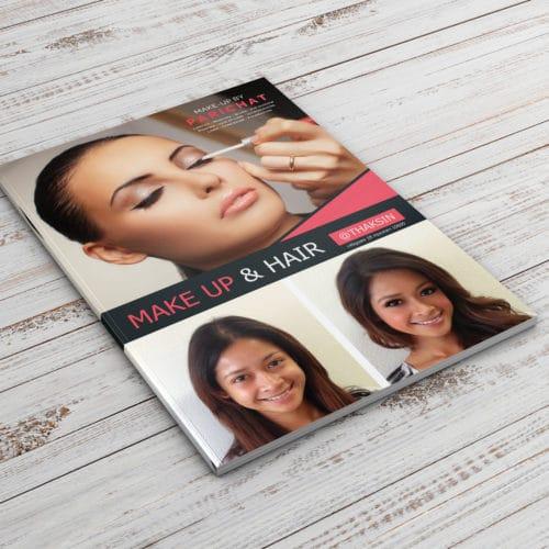 a4 flyer design for hair salon bangkok